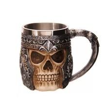 Novetly кружка чашка с двойными стенками из нержавеющей стали 3D череп чашка кофе Череп Рыцарь Кружка ДРАКОН Персонализированная Питьевая чашка Canecas