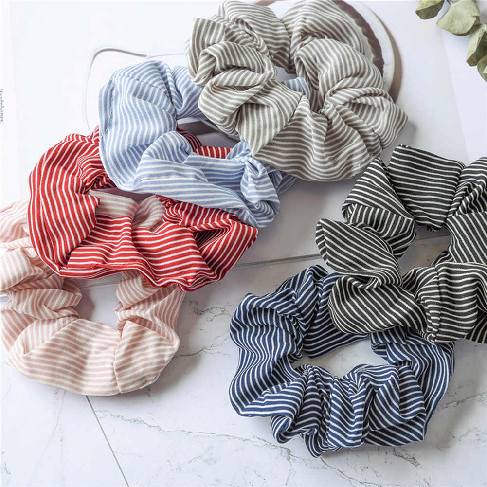 2019 Women's Elasticity Scrunchie New Girl Ponytail Holder Hairband Hair Rope Tie Fashion Stipe Floral Hair Accessories
