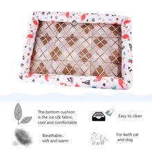 Dog Beds Ice Silk Waterproof Dog Bed Summer House For Dog Bench Lounger For Large Medium Large Dogs Cat Pet Mat Designs(China)