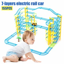 Simulation 7-layers Electric Rail Car Motor Vehicle Rail Car