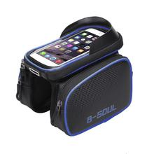 цена на MTB Road Bicycle Touch Screen Front Frame Rainproof, Shockproof, Cycling Top Tube Cycling Bag
