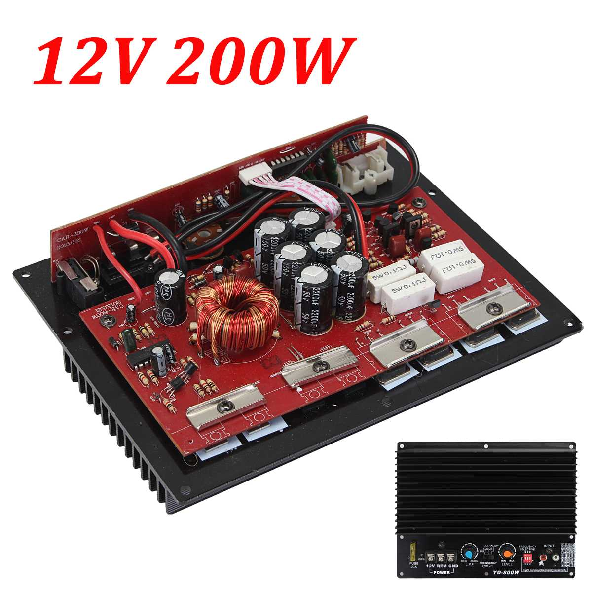 Auto Auto Audio HiFi High Power Subwoofer 200 W 12 V Subwoofer Verstärker Board Amp Mb
