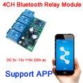 DYKB Bluetooth APP AC/DC 5v 12 V-80 v 110v 220v 4CH релейный модуль для мобильного телефона Приложение IOS  Android пульт дистанционного управления