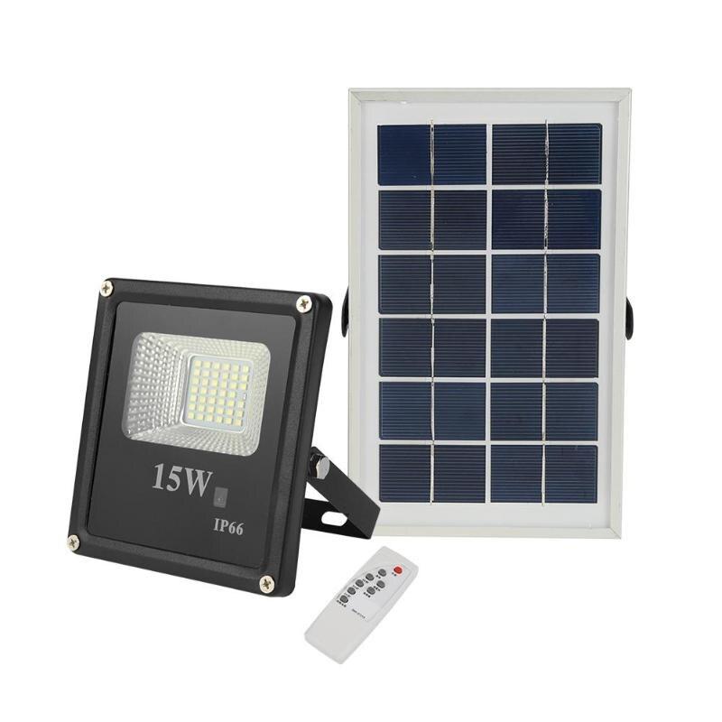 15W solaire appliques 41LED projecteur extérieur projecteur jardin décor lampe télécommande panneau solaire jardin rue murs lumière