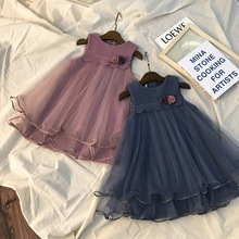 Girls dresses new childrens autumn  winter thick large vests princess dresses.
