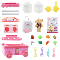Hot 16Pcs Plastic Kitchen Food Fruit Vegetable Children Pretend Play Educational Toys Safety Children Kitchen Dining Car Playset