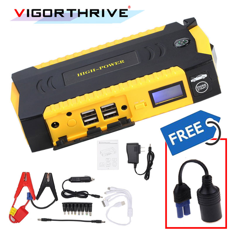Power Bank Portable Emergency Car Jump Starter 600A Car Battery Booster Charger 12V Starting Device Petrol Diesel Car Starter|battery bank solar|battery finder|battery operated christmas led lights - title=