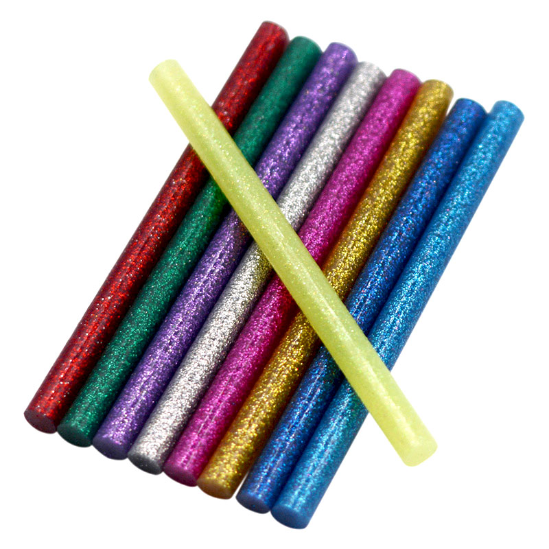 10pcs Colourful 7mm*100mm Hot Melt Glue Sticks For Glue Gun Craft Phone Case Album Repair Accessories Adhesive 7mm Stick
