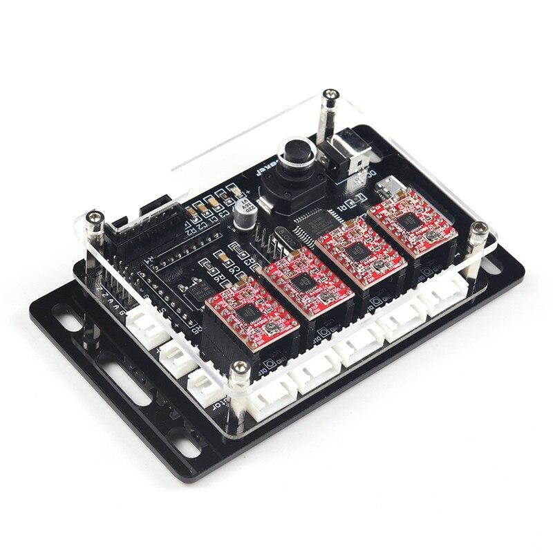 EleksMaker IVAxis V5.3 New 4-axis Stepper Motor Driver Laser Controller Board DIY CNC Engraver DC 12V
