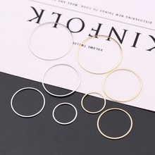 Diameter 8MM to 70MM Round Brass Closed Rings Connect Rings Jewelry Making Findings More color can picked(China)