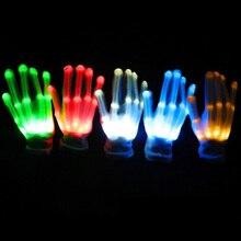1 шт. светодиодный светящийся светильник для перчаток, светящийся светильник для пальцев, танцевальное украшение для вечеринки, светящиеся вечерние принадлежности, реквизит для хореографии, Рождество