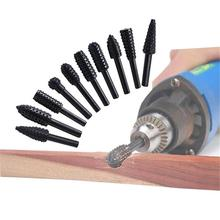 10PCS/Set Woodworking Electric Rotary File Wood Carving Tool Grinding Polishing Machine