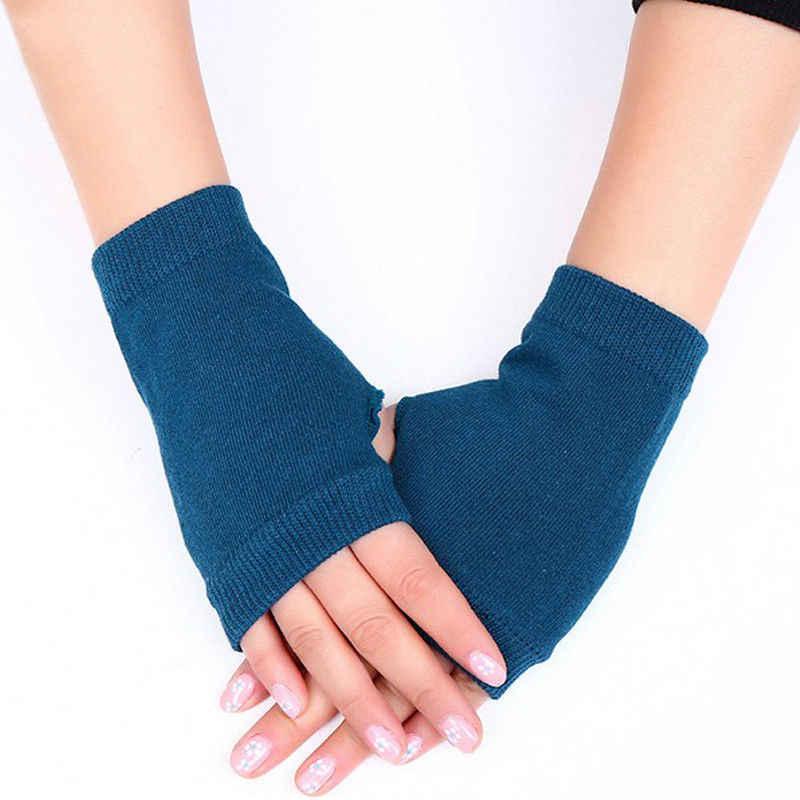 المرأة أنيق جهاز تدفئة محمول الشتاء قفازات النساء الذراع الكروشيه الحياكة القطن القفاز الدافئة أصابع قفازات Gants فام