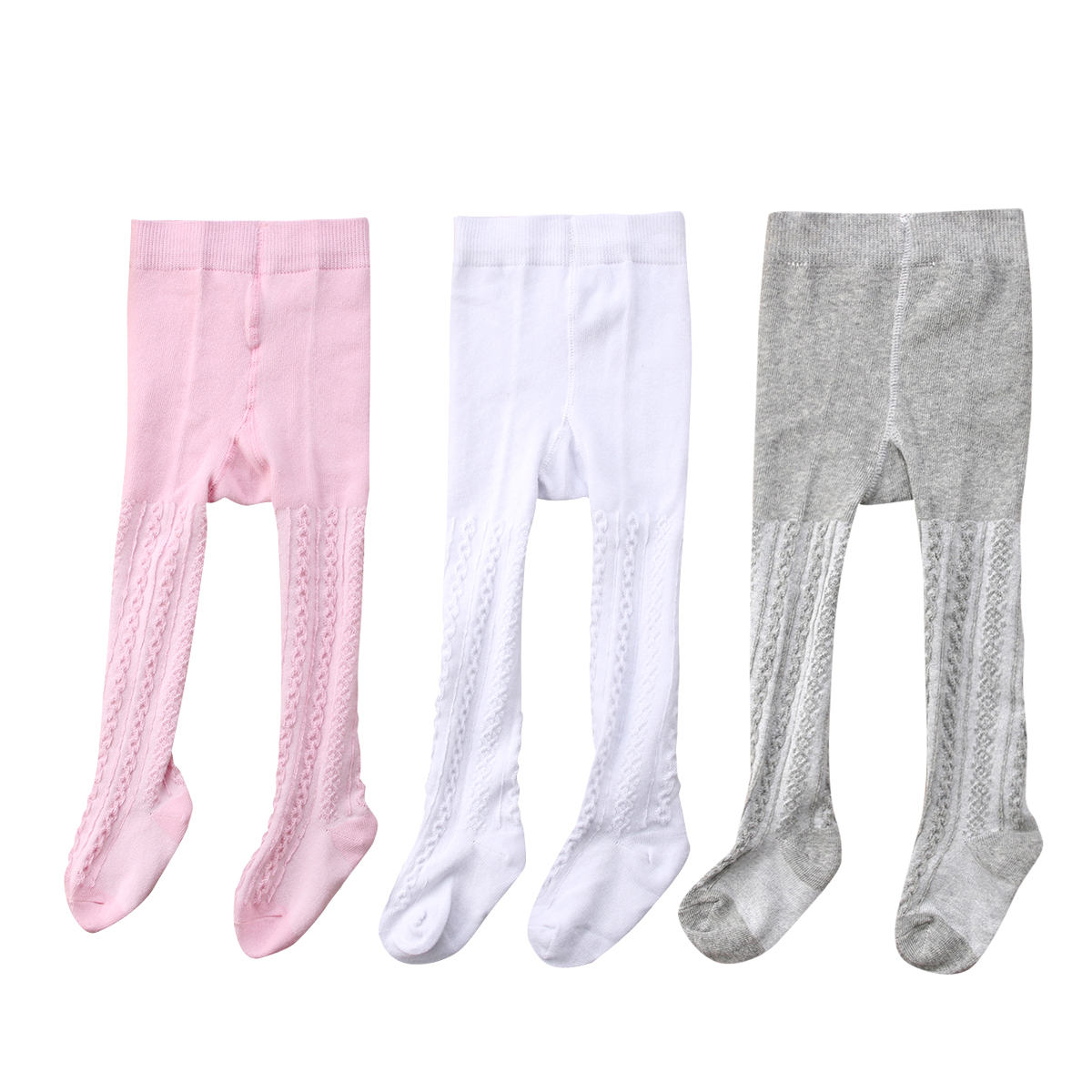 Country Kids Girls Everyday Basic Sheer Footed Pantyhose Tights Pack of 3
