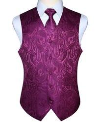 Для мужчин жилет вечерние свадьбу шейный платок Классический Пейсли плед цветочный жаккард карман квадратный галстук костюм комплект