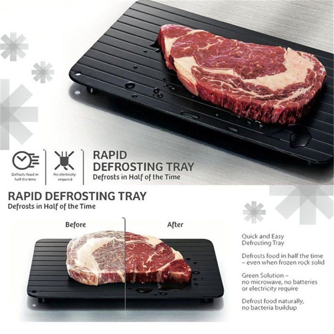 1PC 35.5*20.5cm  Fast & Easy Defrosting Meat Tray Rapid Thawing Tray For Frozen Food New