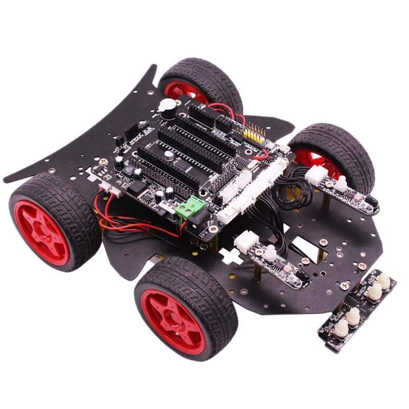 Adatto Per Arduino Uno Smart Car Robot Kit Fai Da Te di Programmazione Grafica Spina Degli Stati UnitiAdatto Per Arduino Uno Smart Car Robot Kit Fai Da Te di Programmazione Grafica Spina Degli Stati Uniti