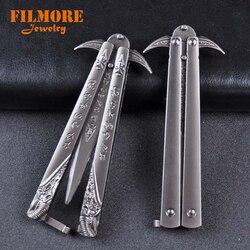 21cm mundo de warcraft arma modelo espada handwork chaveiro wow frostmourne swing faca ferramentas de treinamento sem borda facas borboleta