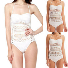 Hirigin 2019 Summer New Sexy womens swimsuit lace openwork push high thick bikini triangle jumpsuit