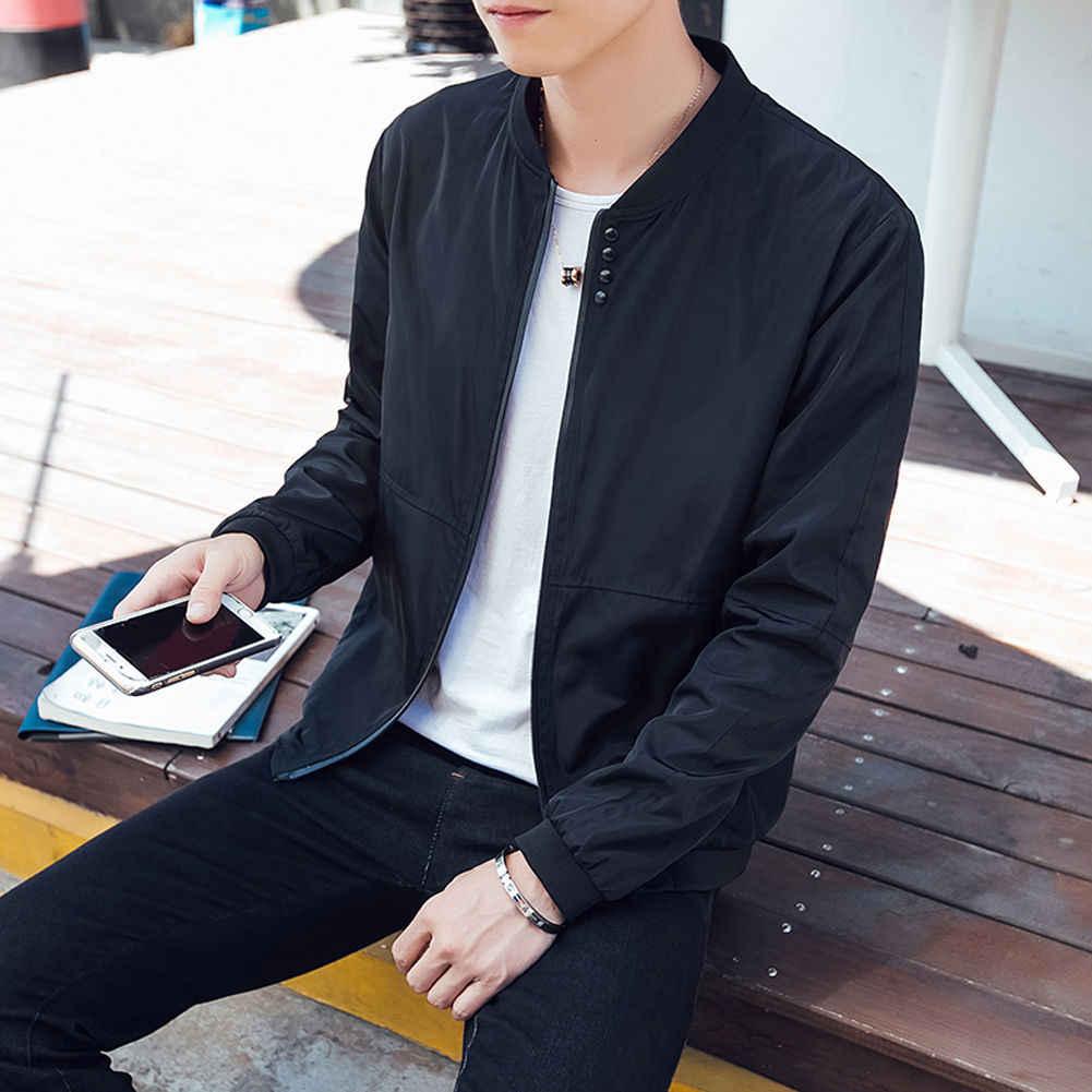 Nieuwe mannen Bomber Zipper Jacket Man Casual Streetwear Hip Hop Slim Fit Pilot Jas Mannen Kleding Plus Size