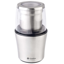 Кофемолка GEMLUX GL-CG998 (Мощность 200 Вт, вместимость 70 г, степень помола от грубого для френч-пресса до тонкого для турки, нож из нержавеющей стали)