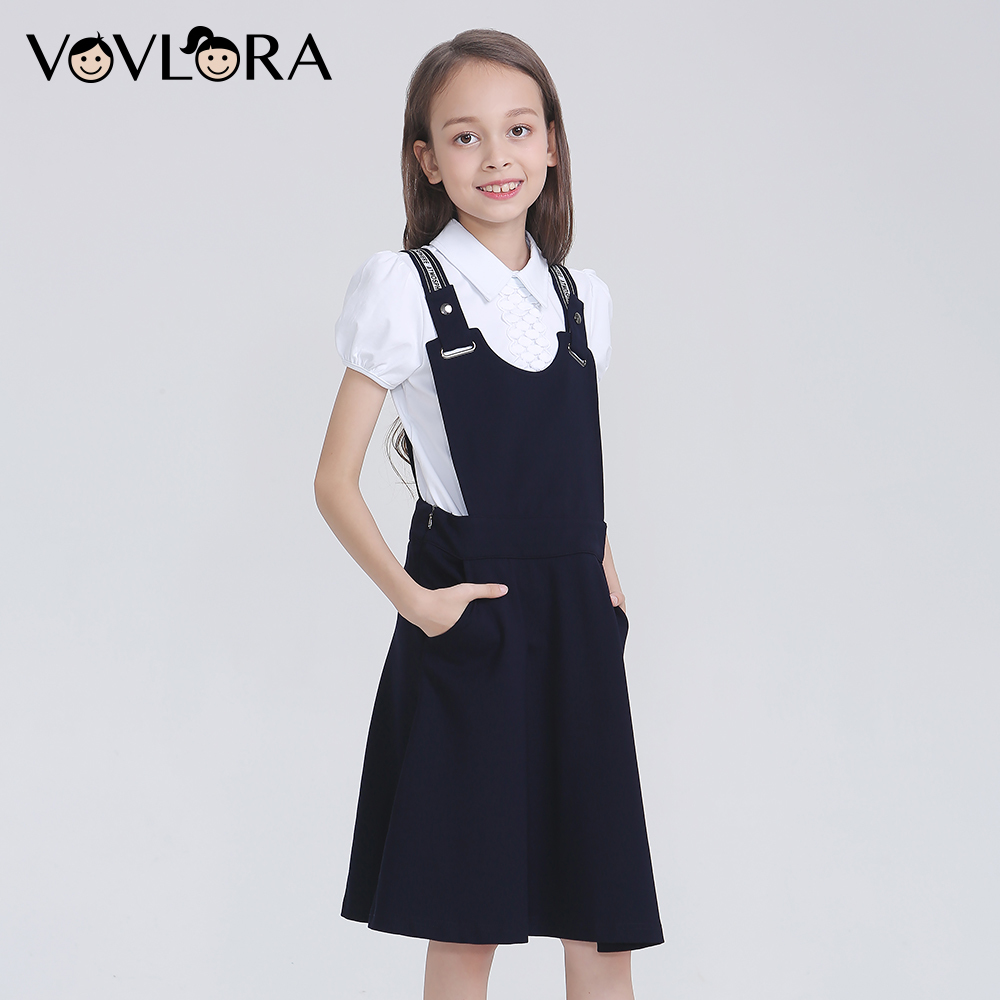 Sleeveless Girls Dresses School Kids Sarafan 2018 Suspenders Children Dress Autumn Clothes New Size 9 10 11 12 13 14 Years sleeveless v neck 2018 dress school a line knitted solid kids dress girls school clothes new arrival size 9 10 11 12 13 14 years