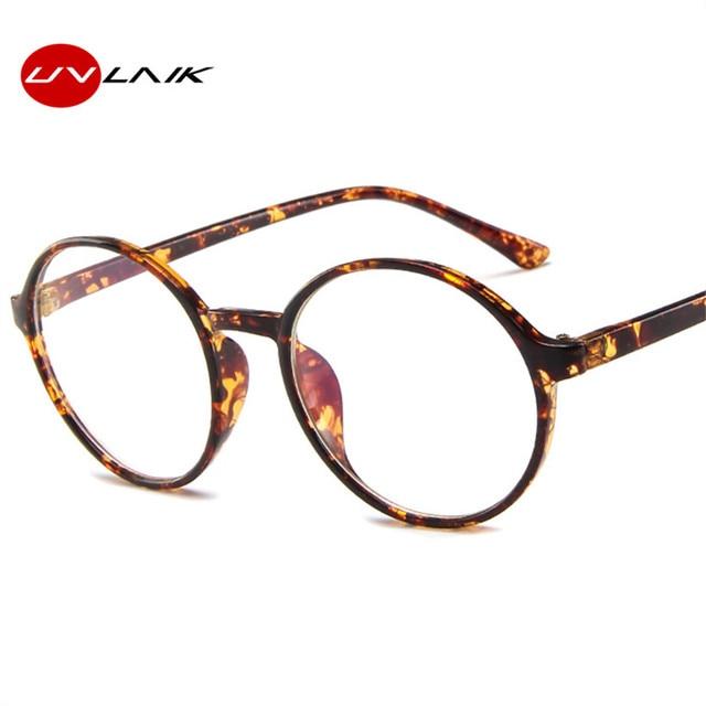 4c10ff05f9 UVLAIK Fashion Transparent Round Glasses Frame Women Spectacle Men Eye  Glasses Frame Nerd Optical Frames Clear Lens