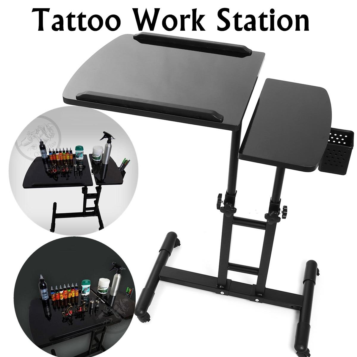 65-97 см черный Регулируемый салон маникюрные столики Татуировка ногтей Рабочий стол для компьютера; стол Трассировка чертеж рабочая станция Стенд