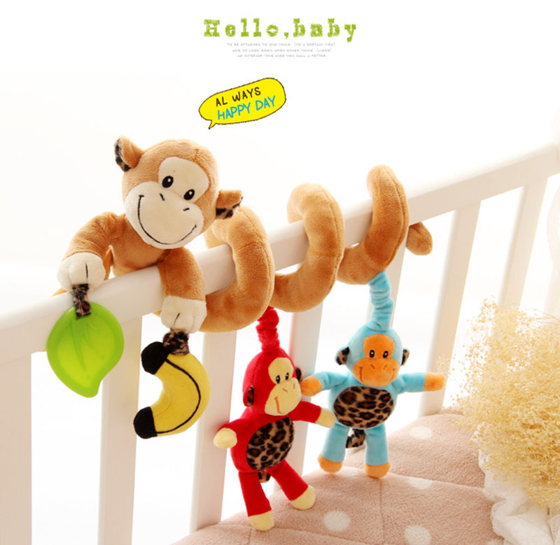 Sozzy бренд милий музичний ліжко автомобіля ліжко висить дзвоник новонароджених дітей освітніх грошей брязкальце мобільних іграшок