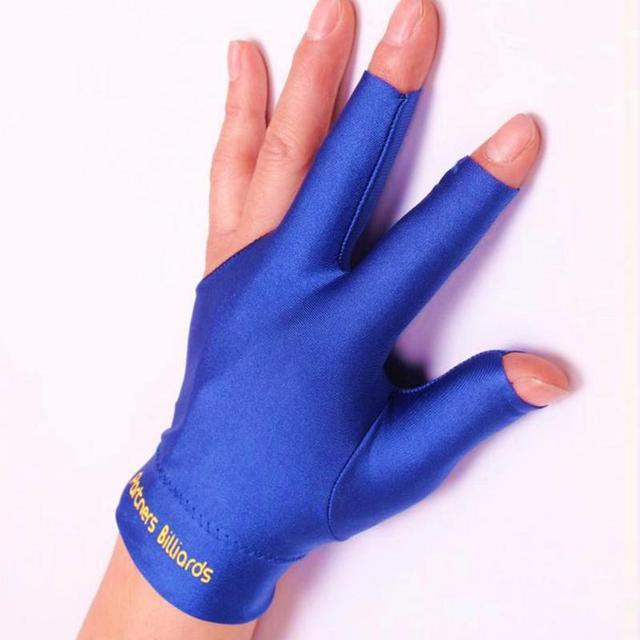 סטרץ סנוקר ביליארד כפפת בריכת יד שמאל פתוח שלוש אצבע אבזר כושר אבזרים