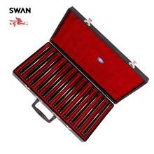 Swan SW24H 12T 24 หลุม 12 คีย์HarmonicasชุดEnd Performance Harmonicaของขวัญกล่องProfessionalเครื่องดนตรีพิณ