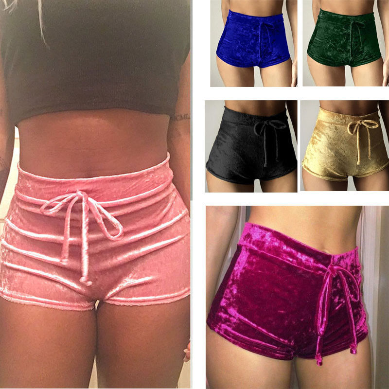 Hot Sale Woman Fashion Casual Solid Comfy Shorts Women Seamless Sport Elastic Shorts