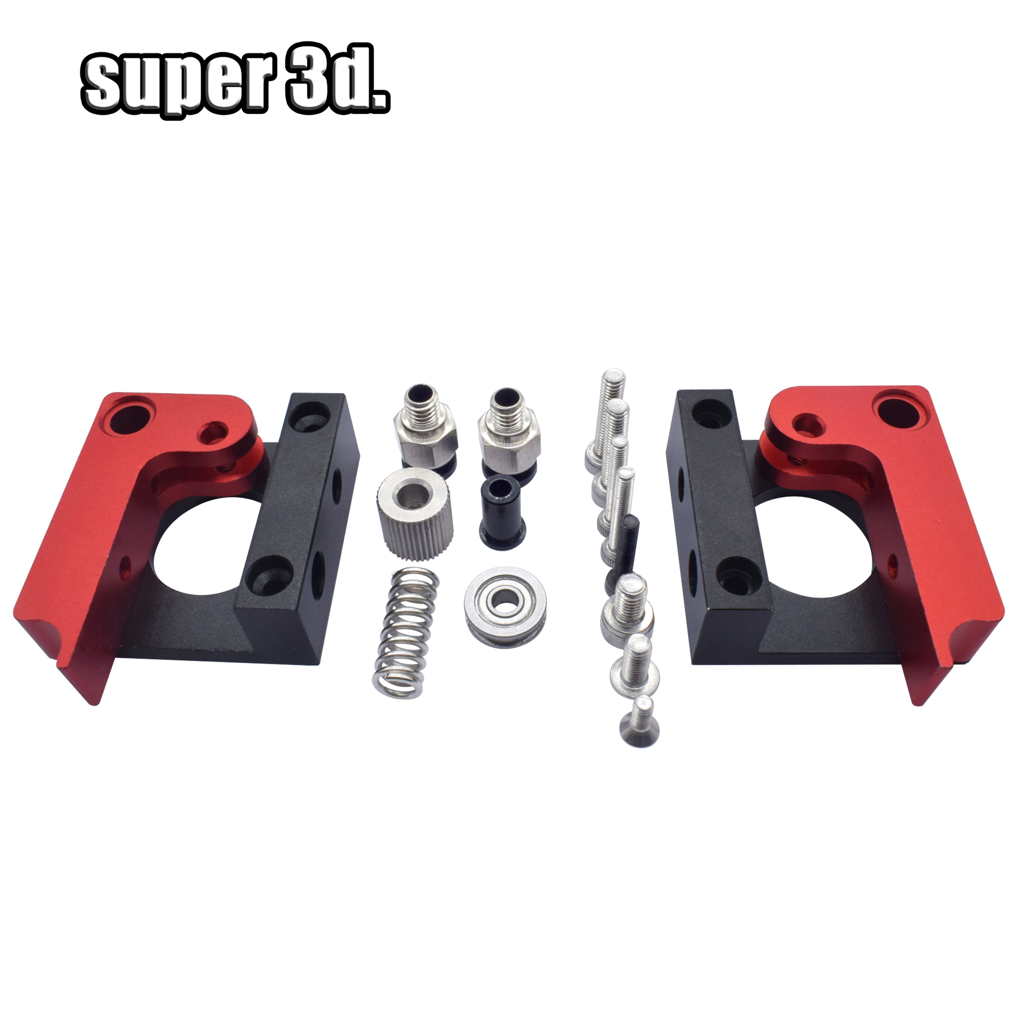 Improved Version MK8 All-metal Remote Extruder Feeder Kit 1.75mm (Right /Left ) Aluminum Alloy Block 3D Printer DIY Accessories