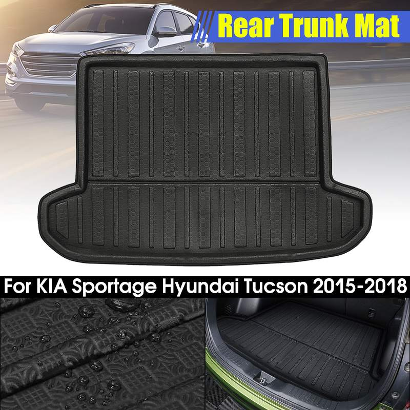 Car Rear Trunk Cargo Mat Boot Liner Tray Matsor For KIA Sportage For Hyundai Tucson 16-18 Floor Sheet Carpet Mud Protective Pad