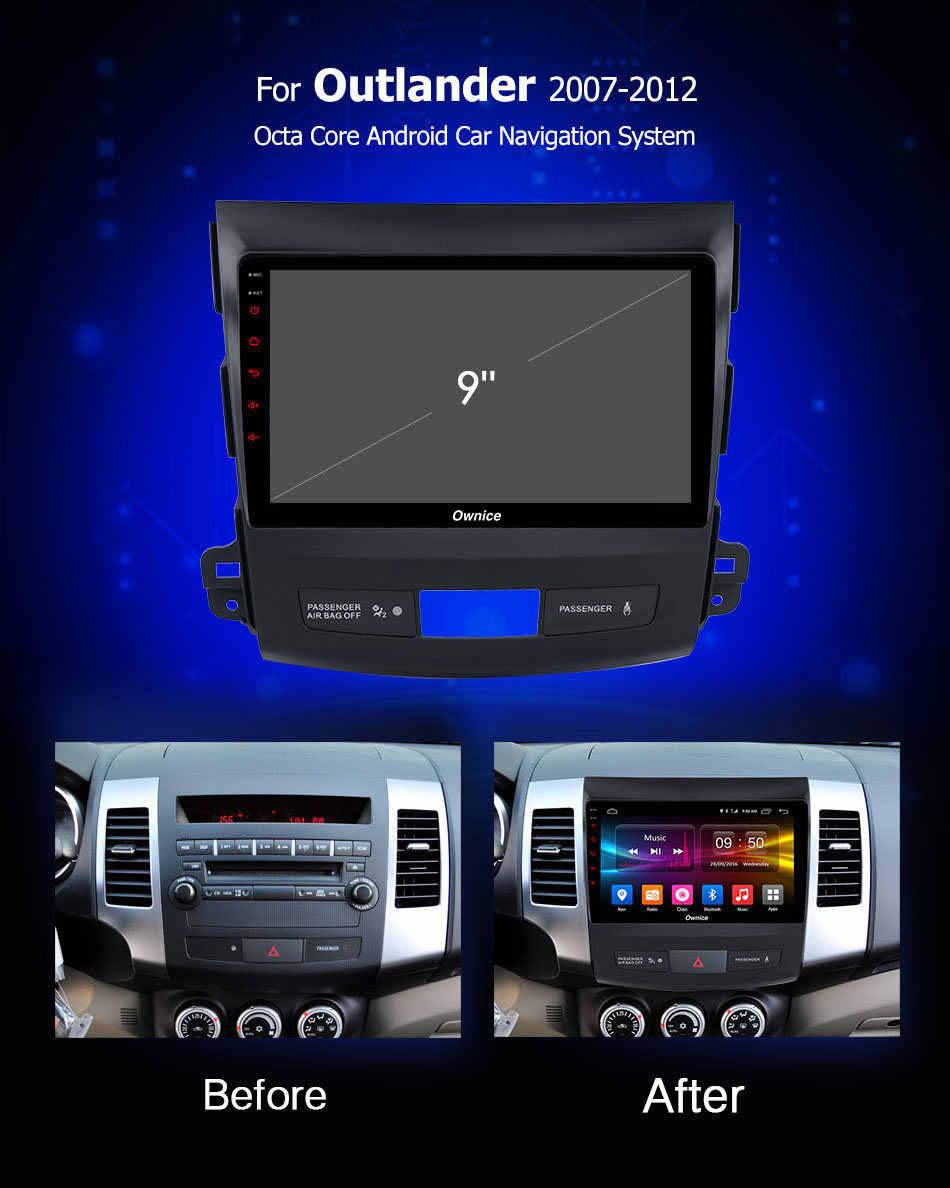 Ownice C500 + G10 Android 8.1 Auto Radio GPS Speler Navi voor Mitsubishi Outlander 2007 met 32G 8 Core auto Radio Multimedia 4G