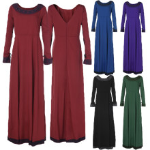 Spring Autumn Women Maxi Long Dress Long Sleeve Classic Retro Elegant  Evening Party Ball Gown Solid Ladies Vestidos 3XL Big 4b1c91264251