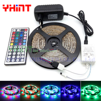 1 set 5 meters SMD3528 DC12V 2A IP65/IP20 Waterproof High end 60 LED/M RGB LED strip with 24/44key IR Remoter Controller Box