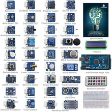Sunfounder 37 módulos mega 2560 sensor kit v2.0 para arduino uno r3 mega2560 mega328 nano