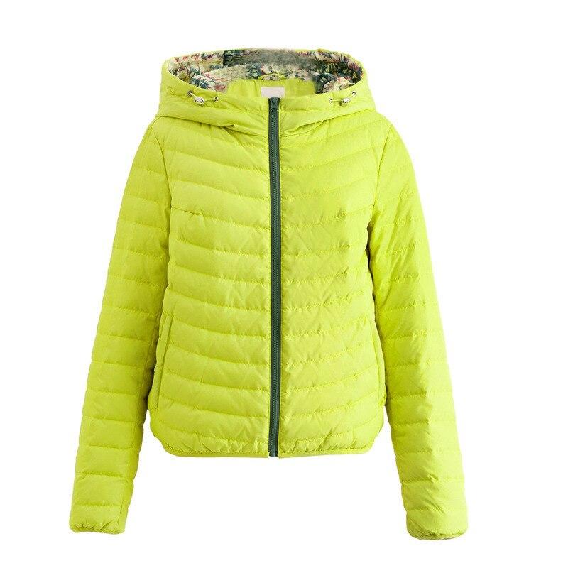Image 5 - INMAN Spring Autumn Hooded Loose Casual Short Coat Women Down JacketDown Coats