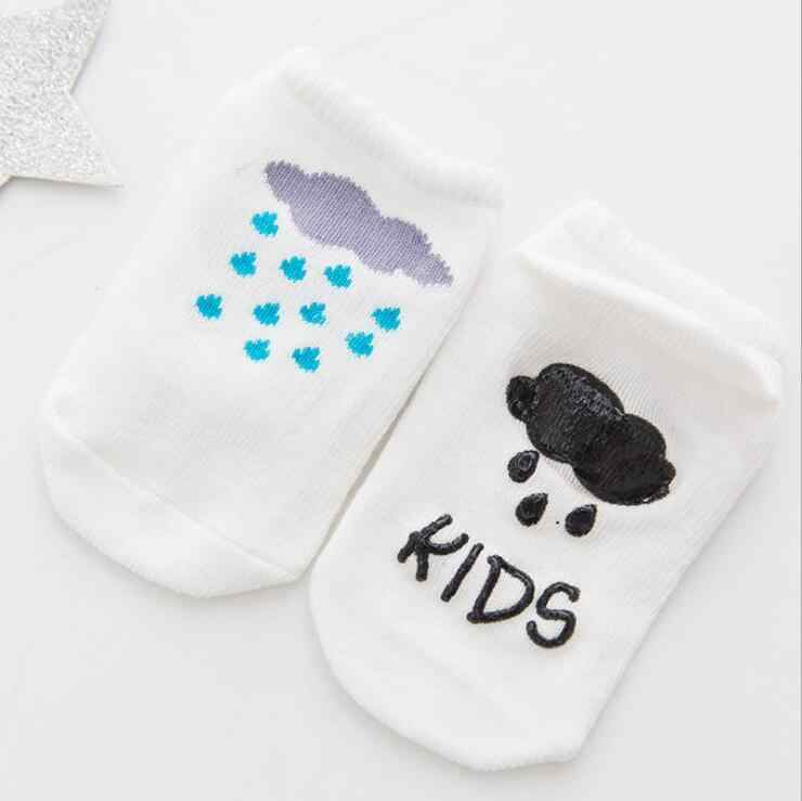 MAYA STEPAN Baby Floor Boy Girl Kid Children Smile Infant Cotton Anti Skid Slip Toddler Slipper Sock Striped Newborn Cheap Stuff