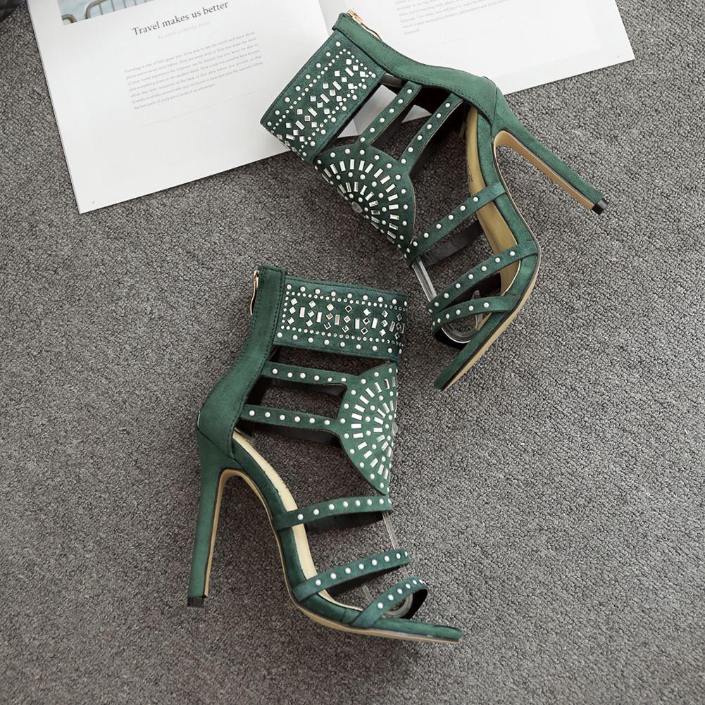 Plate Mode Femmes Hauts Romain Pompes Été Chaussures Stripper Sexy Parti 02 Creux Talons Sandales forme 01 qA7XwB1x