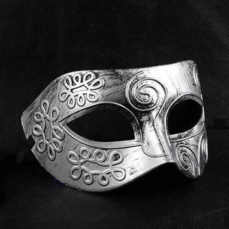 ขายร้อนผู้ชายน่ารัก Burnished Antique Silver/Gold Venetian Mardi Gras Masquerade Ball Party Mask