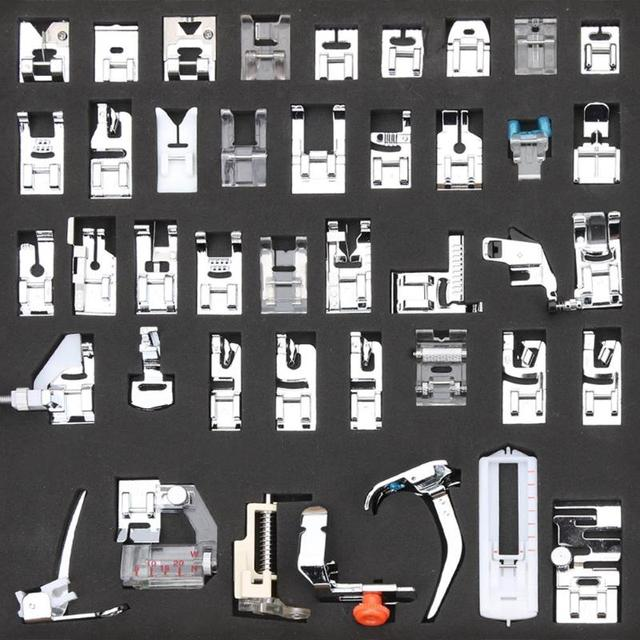 42pcs Domestic Sewing Machine Presser Feet Set Accessories for Brother Singer Janome Presser Feet Braiding Blind Stitch
