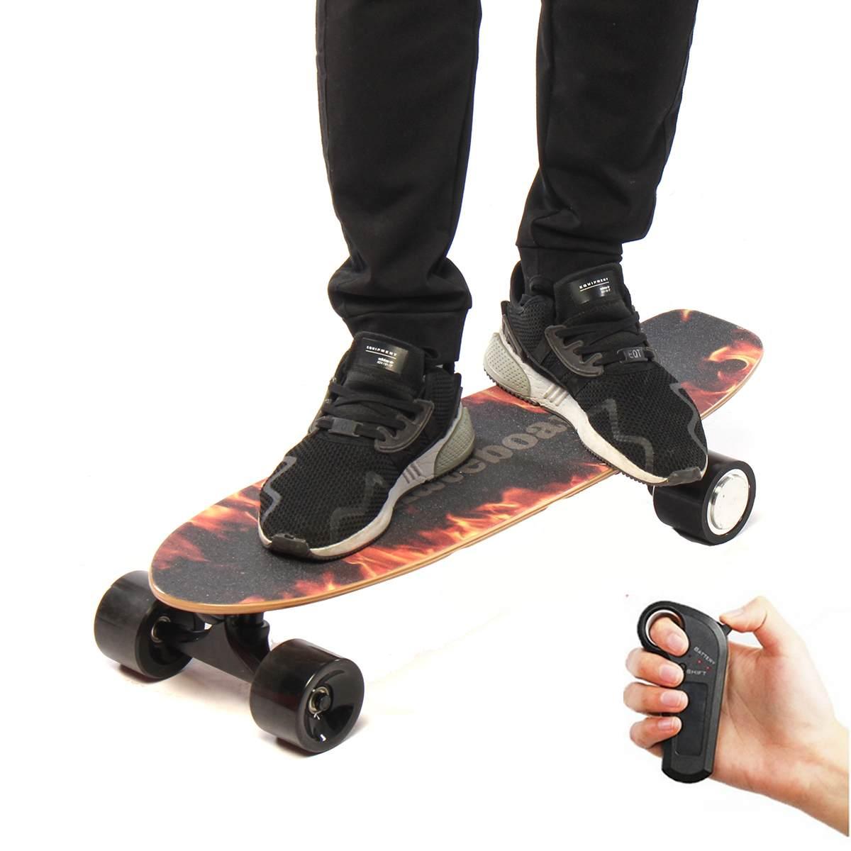 Skateboard électrique Quatre roues Longboard planche de skate Érable Pont Sans Fil À Distance Controll Pour Enfants Adultes - 6