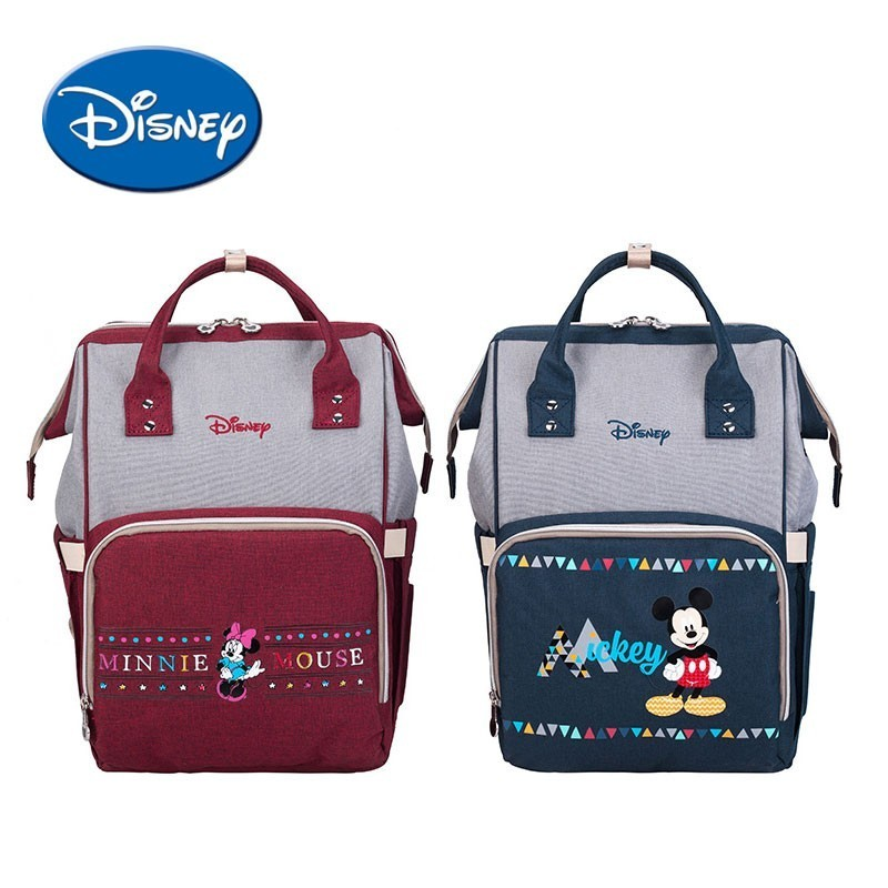 Disney High Capacity Fashion Diaper Bag Water proof Convenient Toddler Mommy Diaper Backpack Cartoon Mickey Travel