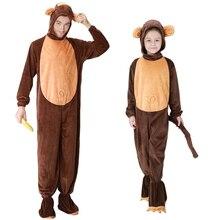 Adulto de la familia de los niños desgaste Animal Cosplay disfraces  Halloween lujo pijamas de mono + zapatos para niños Regalo d. e265184a47d5