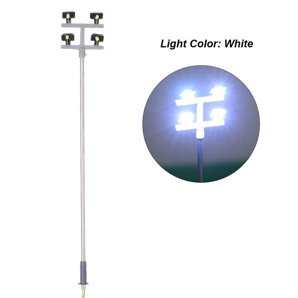 5 sztuk modelu uliczne LED światła latarni ogród plac zabaw dla dzieci data data powrotu (układ krajobraz lampa Led oświetlenie w skali 1:100 115mm