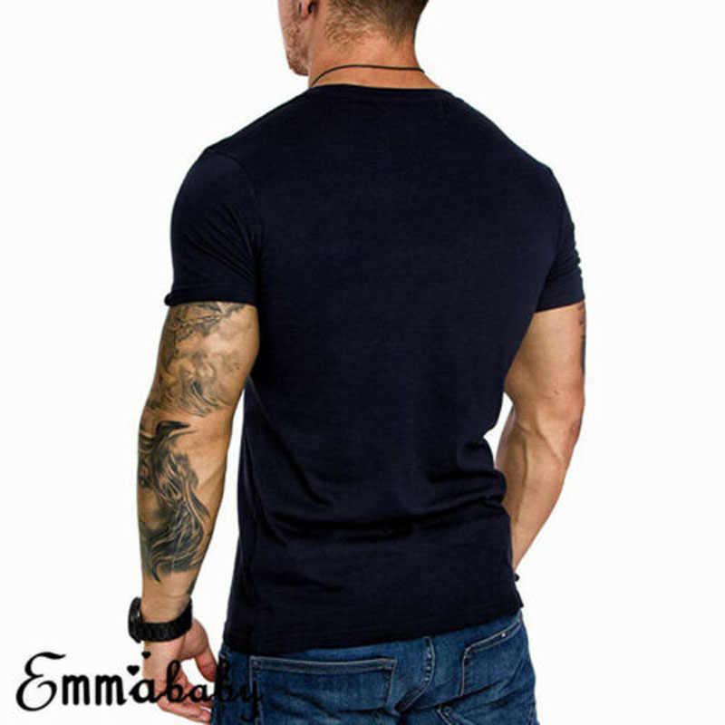 Nuevo estilo de los hombres de manga corta Slim Fit blusa camisa verano Casual músculo camisetas