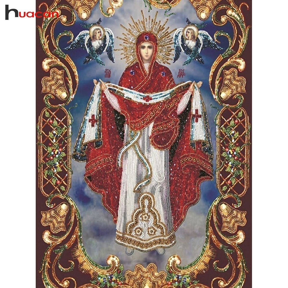 HUACAN Diamond Mosaic Religious Full Square Drill Decoration Home 5D DIY Embroidery Diamond Painting Cross Stitch Religion IconHUACAN Diamond Mosaic Religious Full Square Drill Decoration Home 5D DIY Embroidery Diamond Painting Cross Stitch Religion Icon