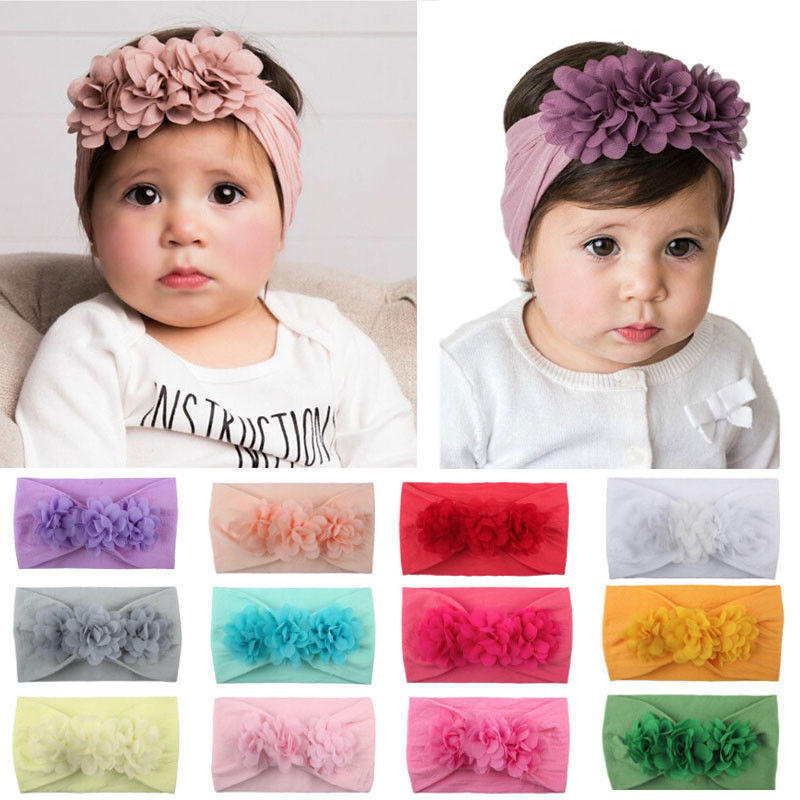 Baby Girl Kids Toddler Lace Flower Headband Hair Bow Band Accessories Headwear Accessories